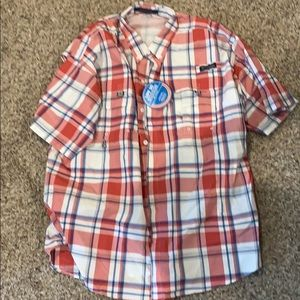 NWT Columbia super Bahama ss fishing shirt